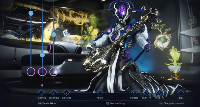 Warframe has been expanded to include a little guitar hero